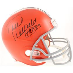"Paul Warfield Signed Cleveland Browns Full-Size Throwback Helmet Inscribed ""HOF '83"" (Radtke COA)"