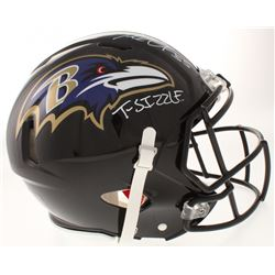 "Terrell Suggs Signed Baltimore Ravens Full-Size Authentic On-Field Speed Helmet Inscribed ""T-Sizzle"""