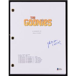 "Jeff Cohen Signed ""The Goonies"" Movie Script Inscribed ""Chunk"" (Beckett COA)"
