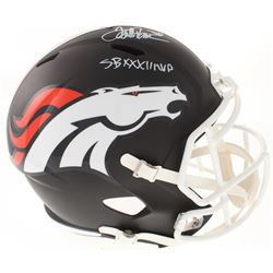 "Terrell Davis Signed Denver Broncos Full-Size Matte Black Speed Helmet Inscribed ""SB XXXII MVP"" (Rad"