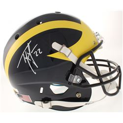 Ty Law Signed Michigan Wolverines Full-Size Helmet (Radtke COA)