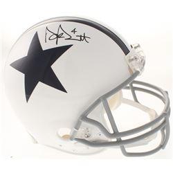 Dak Prescott Signed Dallas Cowboys Full-Size Authentic Thanksgiving Day Helmet (Beckett COA)