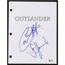 "Sam Heughan  Caitriona Balfe Signed ""Outlander"" Pilot Script (Beckett COA)"