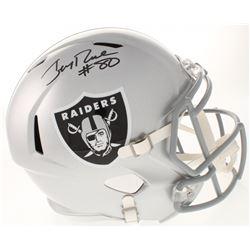 Jerry Rice Signed Oakland Raiders Full-Size Speed Helmet (Radtke COA)