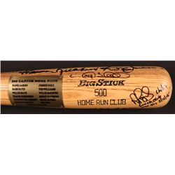 500 Home Run Club Rawlings Baseball Bat Signed by (22) with Ted Williams, Mickey Mantle, Eddie Mathe