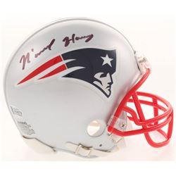 N'Keal Harry Signed New England Patriots Mini Helmet (Beckett COA)