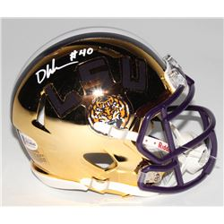Devin White Signed LSU Tigers Chrome Speed Mini Helmet (Beckett COA)