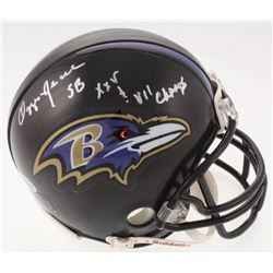 """Ozzie Newsome Signed Baltimore Ravens Mini Helmet Inscribed """"SB XXV  VII Champs"""" (Beckett COA)"""