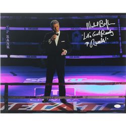 """Michael Buffer Signed 16x20 Photo Inscribed """"Let's Get Ready To Rumble!"""" (JSA COA)"""