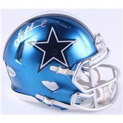 Troy Aikman Signed Dallas Cowboys Blaze Mini Speed Helmet (Beckett COA)