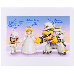 "Samantha Kelly, Kenny James  Charles Martinet Signed ""Super Mario Odyssey"" 11x17 Photo Inscribed ""Wo"