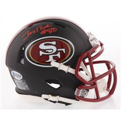 Jerry Rice Signed San Francisco 49ers Matte Black Speed Mini Helmet (Beckett COA)