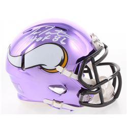 "Fran Tarkenton Signed Minnesota Vikings Chrome Speed Mini Helmet Inscribed ""HOF 86"" (Schwartz COA)"