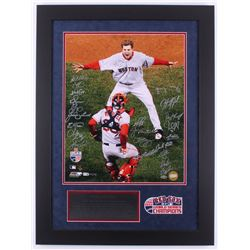 2007 Boston Red Sox World Series Champions LE 23.5x31.5 Custom Framed Photo Display Team-Signed by (