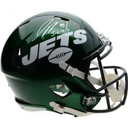"""Jamal Adams Signed New York Jets Full-Size Speed Helmet Inscribed """"J-e-t-s"""" (Fanatics Hologram)"""