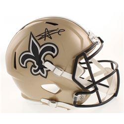 Alvin Kamara Signed New Orleans Saints Full-Size Speed Helmet (Radtke COA)