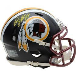 Dwayne Haskins Signed Washington Redskins Matte Black Mini Speed Helmet (Fanatics Hologram)