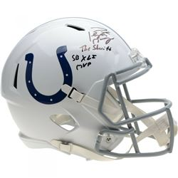 """Peyton Manning Signed Indianapolis Colts Full-Size Speed Helmet Inscribed """"5x NFL MVP""""  """"The Sheriff"""