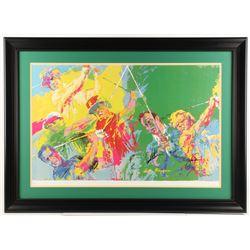 "Arnold Palmer  Jack Nicklaus Signed Leory Neiman ""Golf Greats"" 29x40 Custom Framed Print Display (JS"