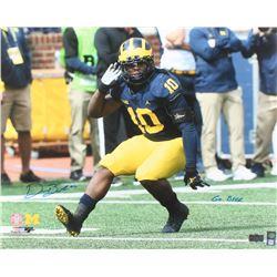 "Devin Bush Jr. Signed Michigan Wolverines 16x20 Photo Inscribed ""Go Blue"" (Radtke COA)"