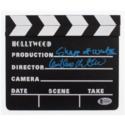 """Guillermo del Toro Signed """"The Shape of Water"""" Miniature Clapperboard (Beckett COA)"""