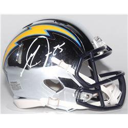 Melvin Gordon Signed Los Angeles Chargers Chrome Speed Mini Helmet (Radtke COA)