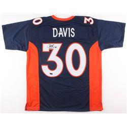 "Terrell Davis Signed Denver Broncos Jersey Inscribed ""Bronco 4 Life!"" (Radtke COA)"