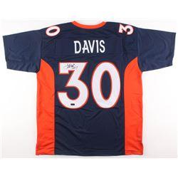 "Terrell Davis Signed Denver Broncos Jersey Inscribed ""HOF 17"" (Radtke COA)"