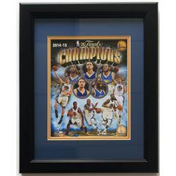Golden State Warriors 14x17 Custom Framed 2014-15 NBA Championship Photo Display
