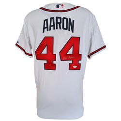 Hank Aaron Signed Atlanta Braves Majestic Jersey (JSA Hologram)