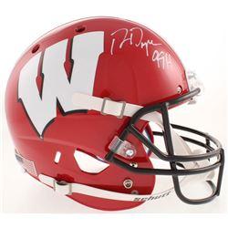 """Ron Dayne Signed Wisconsin Badgers Full-Size Helmet Inscribed """"99 H"""" (Schwartz COA)"""