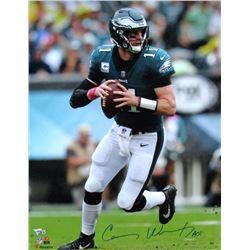 "Carson Wentz Signed Philadelphia Eagles 16x20 Photo INscribed ""AO1"" (Fanatics Hologram)"