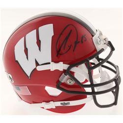Melvin Gordon Signed Wisconsin Badgers Mini Helmet (Radtke COA)