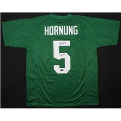 "Paul Hornung Signed Notre Dame Fighting Irish Jersey Inscribed ""56 H"" (Radtke COA)"