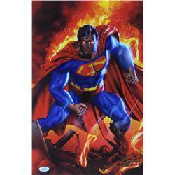 "Greg Horn Signed ""Superman"" 11x17 Lithograph (JSA COA)"
