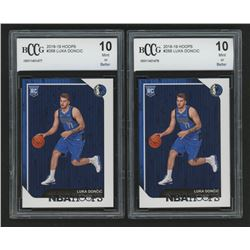 Lot of (2) 2018-19 Hoops #268 Luka Doncic RC (BCCG 10)