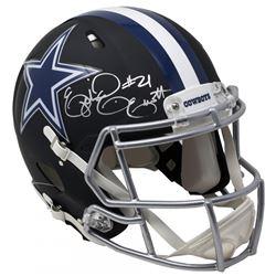 Ezekiel Elliott Signed Dallas Cowboys Matte Black Full-Size Authentic On-Field Speed Helmet (Beckett