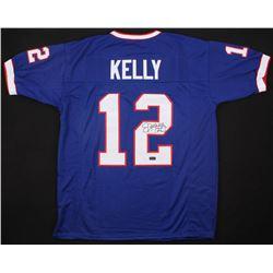 "Jim Kelly Signed Buffalo Bills Jersey Inscribed ""HOF 02"" (Radtke COA)"
