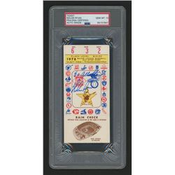 "Nolan Ryan Signed Authentic 1978 All-Star Game Ticket Inscribed ""8x All-Star"" (PSA Encapsulated - Au"