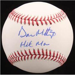"Don Mattingly Signed OML Baseball Inscribed ""Hit Man"" (JSA Hologram)"