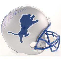 Barry Sanders Signed Detroit Lions Full-Size Throwback Helmet (Schwartz COA)
