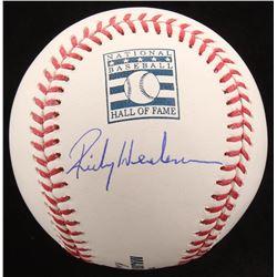 Rickey Henderson Signed Hall of Fame OML Baseball (JSA Hologram)
