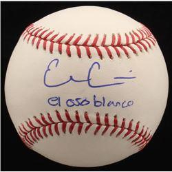 "Evan Gattis Signed OML Baseball Inscribed ""El Oso Blanco"" (Radtke COA)"