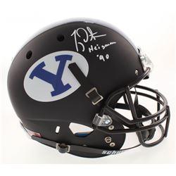 "Ty Detmer Signed BYU Cougars Full-Size Helmet Inscribed ""Heisman '90"" (Radtke COA)"