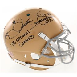 """Raghib """"Rocket"""" Ismail Signed Notre Dame Fighting Irish Full-Size Authentic On-Field Helmet Inscribe"""