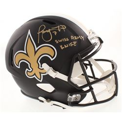"""Taysom Hill Signed New Orleans Saints Full-Size Matte Black Speed Helmet Inscribed """"Swiss Army Knife"""