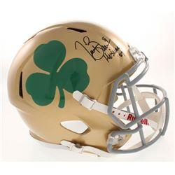 "Tim Brown Signed Notre Dame Fighting Irish Full-Size Speed Helmet Inscribed ""Heisman '87"" (Radtke CO"