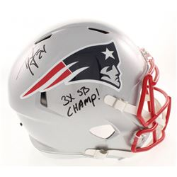 "Ty Law Signed New England Patriots Full-Size Speed Helmet Inscribed ""3x SB Champ!"" (Radtke COA)"