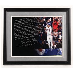 Lenny Dykstra Signed New York Mets 22x26 Custom Framed Photo with Extensive Inscription (Steiner COA
