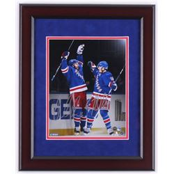 Derick Brassard  J. T. Miller Signed LE New York Rangers 13x16 Custom Framed Photo Display (Steiner